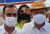 Em encontro com Rui após filiação ao PP, prefeito de LEM recebe elogio de João Leão: