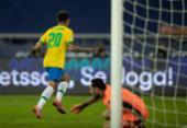 Brasil joga mal, mas vence a Colômbia de virada e segue 100% na Copa América | Foto: Lucas Figueiredo | CBF