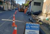 Trânsito é bloqueado na Ladeira de São Cristóvão em razão de obra emergencial | Foto: Divulgação | Transalvador