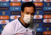 Dado admite má atuação do Bahia, mas ironiza pênalti   Felipe Oliveira   EC Bahia