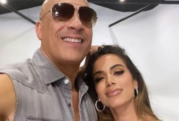 Anitta posa com Vin Diesel após confirmar música em 'Velozes e Furiosos' | Reprodução | Instagram