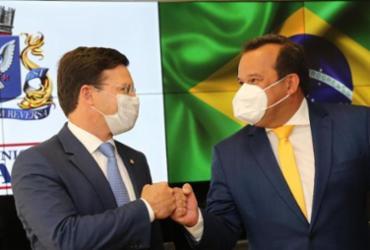 Geraldo Júnior e Júnior Borges têm audiência com João Roma sobre o REIQ |