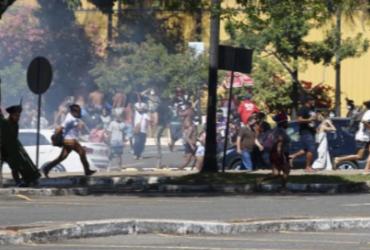 Indígenas são alvos de ataque da polícia durante protesto em Brasília | Mídia Ninja I Twitter
