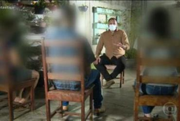 Família feita refém por Lázaro relata tensão: ''não reage, senão o senhor morre' | Reprodução | TV Globo