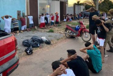 Após encerrar festa, polícia conduz 34 pessoas à delegacia em Luís Eduardo Magalhães