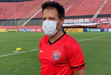 Ramon Menezes lamenta empate em sua estreia como técnico do Vitória no Barradão | Ascom | EC Vitória