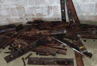 Suspeito de furtar cerca de 600 kg de ferro dos trilhos de ferrovia é preso em Juazeiro