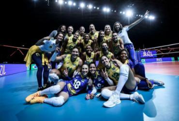 Seleção feminina de vôlei vence Holanda e garante vice-liderança na Liga das Nações |