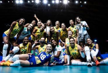 Seleção feminina de vôlei se garante na semifinal da Liga das Nações |