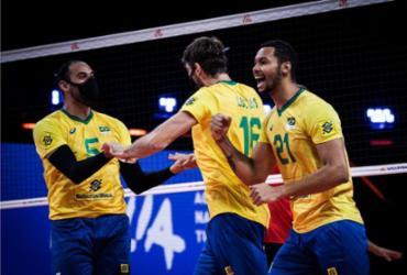 Seleção masculina vence Alemanha e segue líder na Liga das Nações |