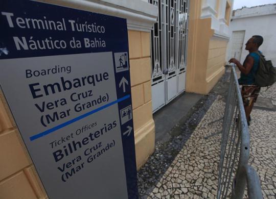 Lanchas voltam a operar na travessia após suspensão por mau tempo   Raul Spinassé   Ag. A TARDE   21.11.2016