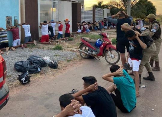 Após encerrar festa, polícia conduz 34 pessoas à delegacia | Divulgação | SSP-BA