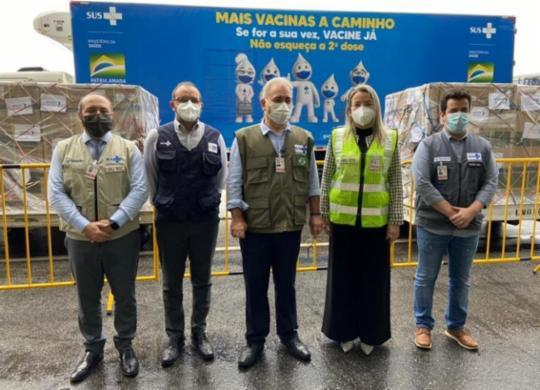 Brasil recebe primeiro lote de vacina contra a covid-19 da Janssen | Divulgação | Ministério da Saúde