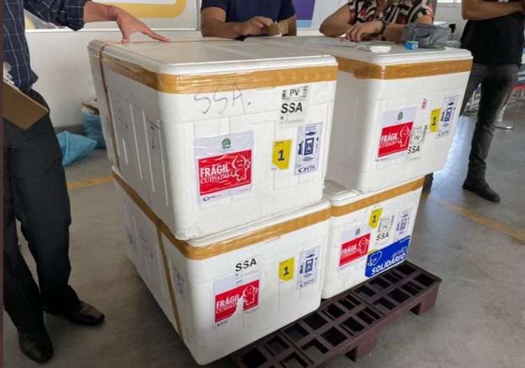 Imunizantes chagaram na Bahia nesta quinta-feira | Foto: Reprodução | Twitter | Fábio Vilas-Boas - Foto: Reprodução | Twitter | Fábio Vilas-Boas