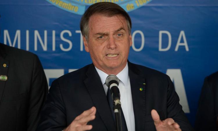 """Presidente exibiu camiseta com a mensagem """"É melhor Jair se acostumando. Bolsonaro 2022""""   Foto: Reprodução - Foto: Reprodução"""