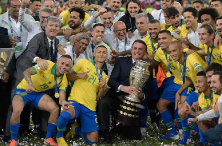 Segundo Bolsonaro, o governo federal recebeu a anuência de quatro estados para receber os jogos   Foto: Divulgação   Copa América 2019 - Foto: Divulgação   Copa América 2019