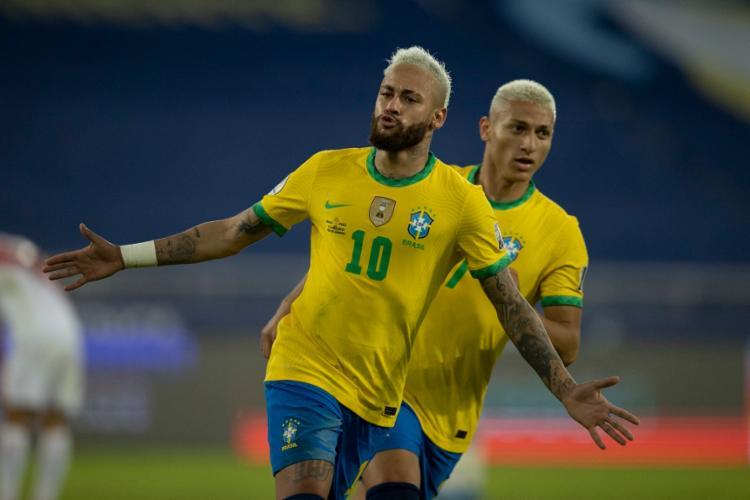 Em noite inspirada, Neymar deixou o gol dele e ultrapassou Ronaldo na artilharia da seleção | Foto: Lucas Figueiredo | CBF - Foto: Lucas Figueiredo | CBF