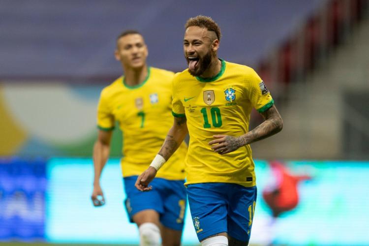 Marquinhos, Neymar (foto) e Gabigol foram os autores dos gols brasileiros | Foto: Lucas Figueiredo | CBF - Foto: Lucas Figueiredo | CBF