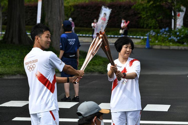 Chama olímpica deve chegar à capital japonesa em 9 de julho   Foto: Kazuhiro Nogi   AFP - Foto: Kazuhiro Nogi   AFP