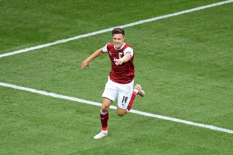 O único gol da partida foi marcado por Christoph Baumgartner | Foto: Mihai Barbu | AFP - Foto: Mihai Barbu | AFP