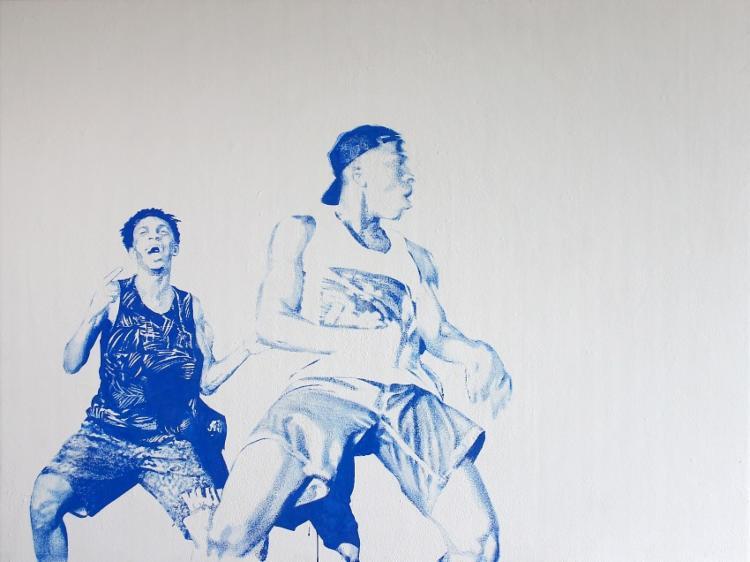 Trabalho feito a partir de vídeo da coreografia do Ballet Puro Swing, com os dançarinos Luís Souza e Samurai | Foto:RV Cultura e Arte | Divulgação - Foto: RV Cultura e Arte | Divulgação