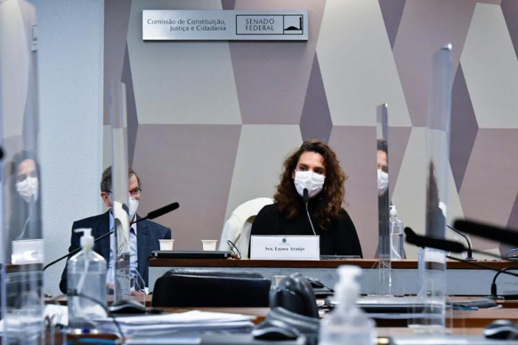 Luana Araújo testemunho na CPI da Covid-19 no início de junho | Foto: Waldemir Barreto | Agência Senado - Foto: Waldemir Barreto | Agência Senado