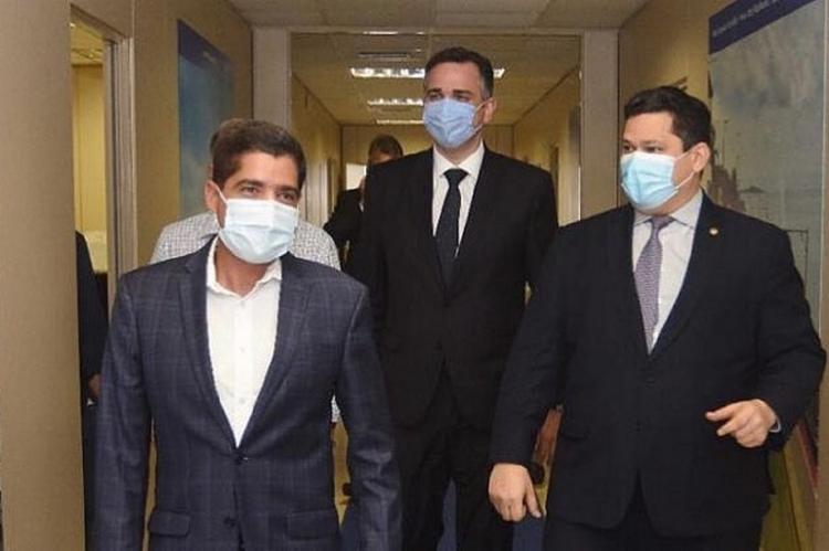 ACM Neto (esq.), Rodrigo Pacheco (centro) e Davi Alcolumbre (dir.) - Foto: Reprodução I Instagram