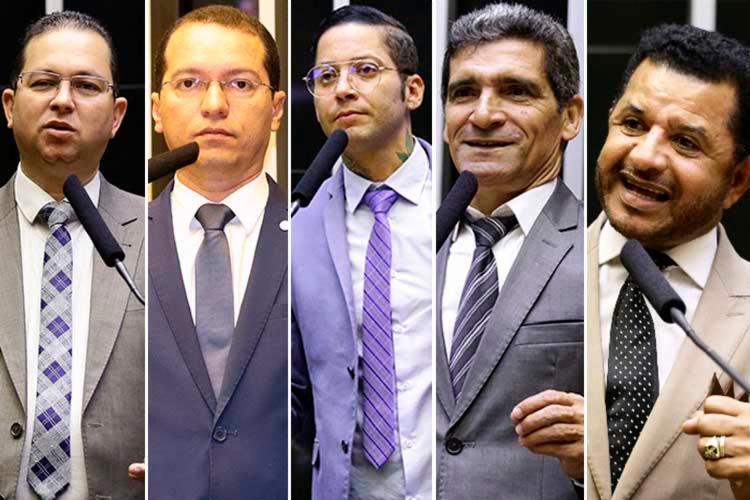 Alex Santana, Tito, Kannário, Raimundo Costa, Abílio Santana | Reprodução - Foto: Reprodução