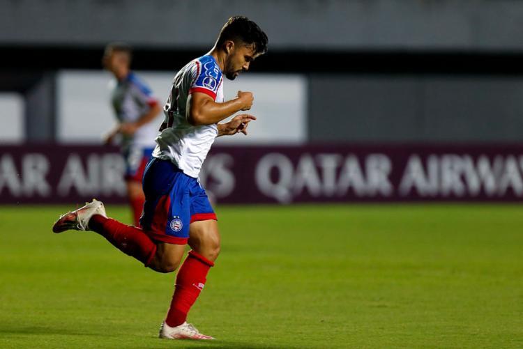 Ele atuou 45 vezes com a camisa do Bahia e marcou cinco gols | Foto: Felipe Oliveira | EC Bahia - Foto: Felipe Oliveira | EC Bahia