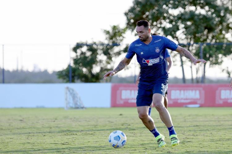 Atacante raramente fica mais de três jogos sem marcar | Foto: Felipe Oliveira | EC Bahia - Foto: Felipe Oliveira | EC Bahia
