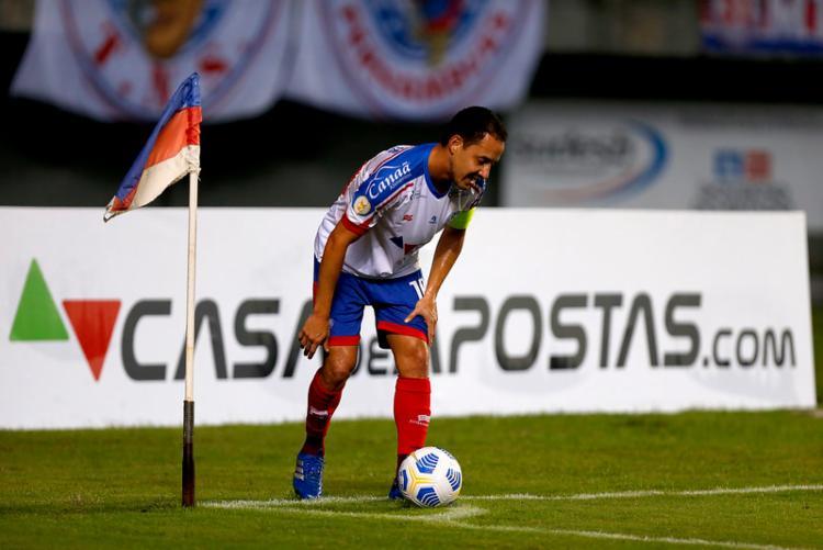 Meia Rodriguinho pode ser um dos poupados | Foto: Felipe Oliveira | EC Bahia - Foto: Felipe Oliveira | EC Bahia