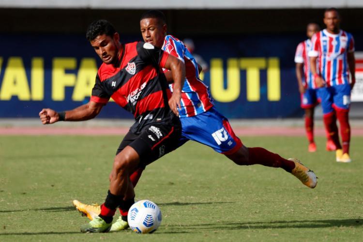 O duelo entre as equipes ocorreu sem grandes emoções no Estádio de Pituaçu | Foto: Felipe Oliveira | EC Bahia - Foto: Felipe Oliveira | EC Bahia