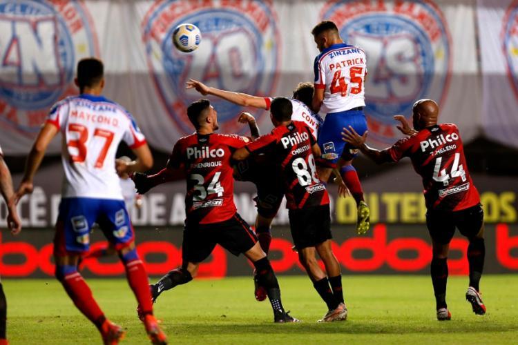 O gol anotado pelo volante foi o terceiro dele na temporada 2021 | Foto: Felipe Oliveira | EC Bahia - Foto: Felipe Oliveira | EC Bahia