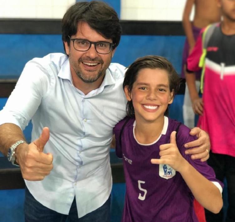 Além do Esquadrãozinho, Enzo é aluno-atleta no Colégio Integral | Foto: Divulgação