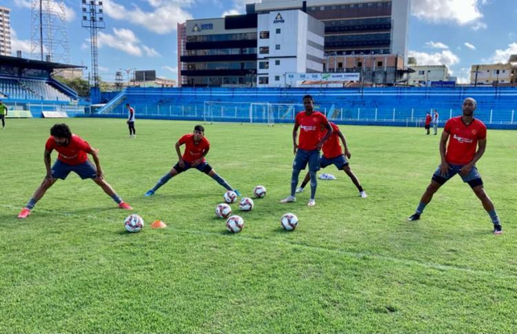 As atividades foram direcionadas somente para os jogadores que não começaram jogando | Foto: Divulgação | EC Vitória - Foto: Divulgação | EC Vitória