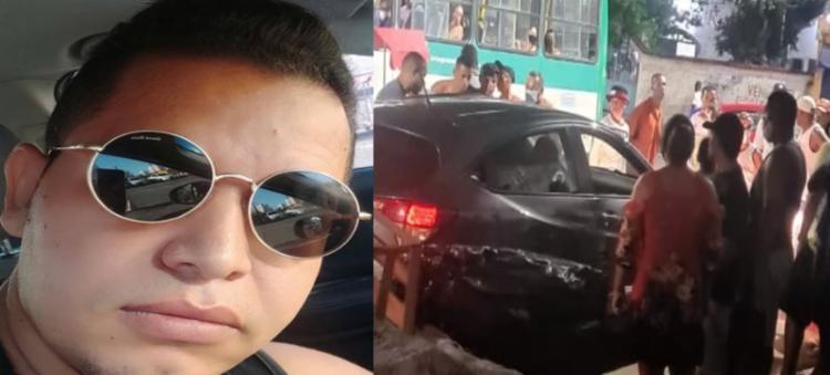 Crime ocorreu na noite deste domingo, em frente a uma farmácia | Foto: Reprodução | TV Bahia - Foto: Reprodução | TV Bahia