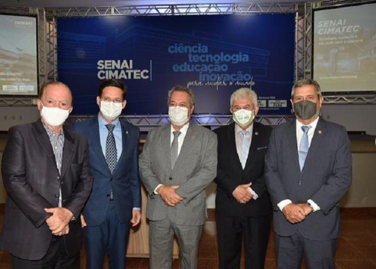 João Roma em visita ao Senai/Cimatec - Foto: Reprodução I Instagram