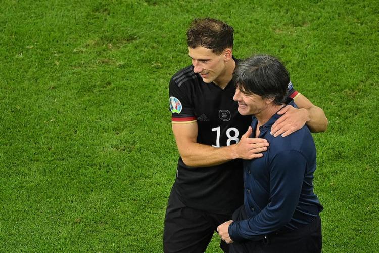 Leon Goretzka marcou o gol que mateve a equipe alemã no torneio continental   Foto: Matthias Hangst   AFP - Foto: Matthias Hangst   AFP