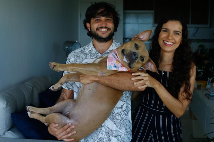 Lorena e Luis: creche faz a alegria de Panqueca Foto: Rafael Martins | Ag. A TARDE - Foto: Rafael Martins | Ag. A TARDE