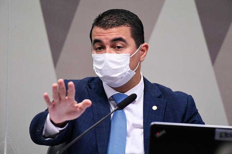 Luis Miranda (DEM-DF) prestou depoimento na tarde desta sexta, 25, ao lado do irmão, servidor que denunciou esquema da Covaxin - Foto: Agência Senado