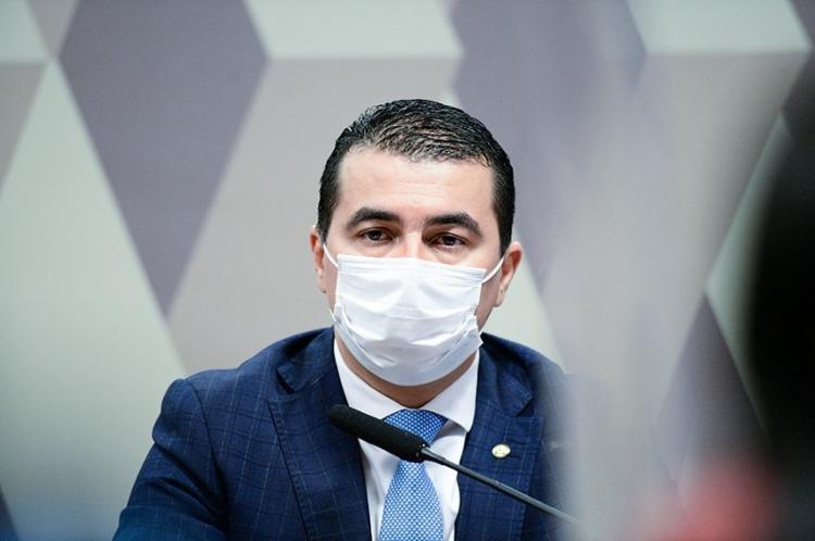 Luís Miranda (DEM-DF) afirmou que deputado e ex-ministro da Saúde do governo Temer, Ricardo Barros (PP-PR), é o responsável pela pressão em favor da vacina da empresa indiana Bharat Biotech - Foto: Agência Senado