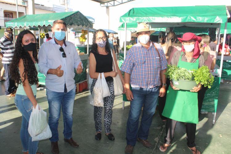 No mês de maio, os feirantes venderam o montante de R$ 13.100 em quatro feiras. - Foto: Achei Sudoeste/Lay Amorim