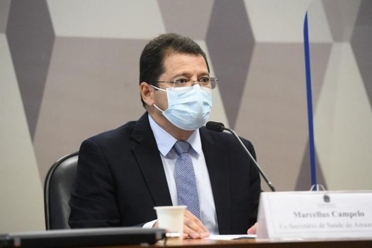 Segundo o ex-secretário, o Ministério da Saúde deu ênfase ao tratamento precoce na crise do estado   Foto: Ag. Senado - Foto: Agência Senado