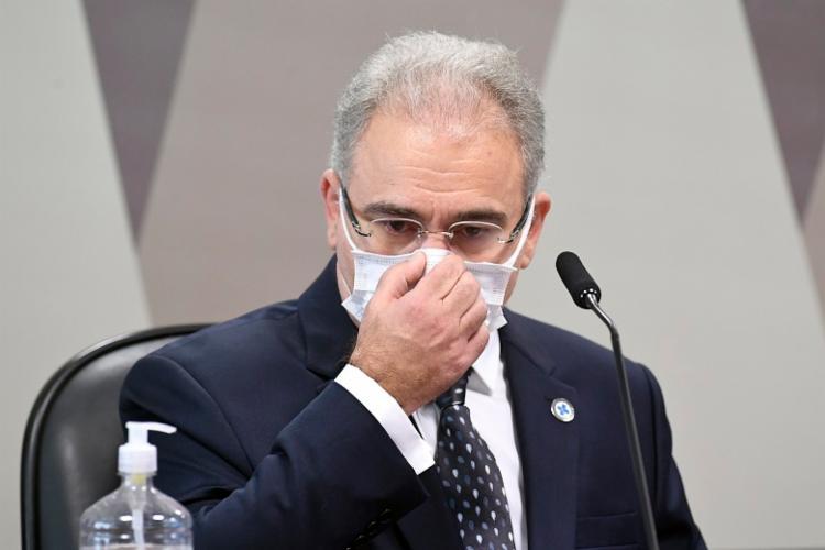 Marcelo Queiroga, ministro da Saúde, em depoimento à CPI da Covid - Foto: Jefferson Rudy I Agência Brasil