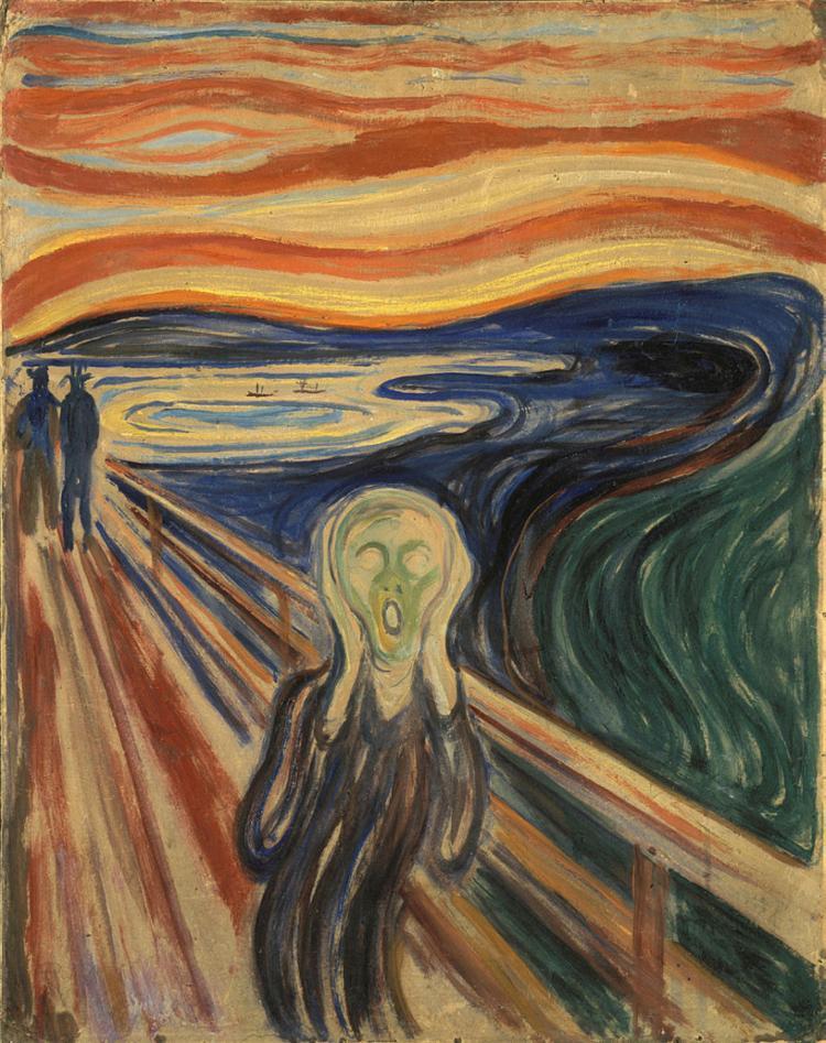 Obra 'O Grito', de Edvard Munch, representa momento de desespero e dor - Foto: Reprodução