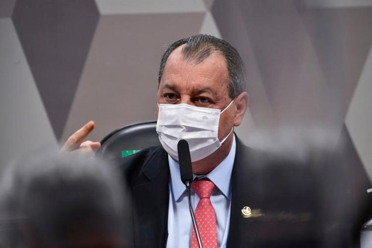 Senador Omar Aziz (PSD-AM) pontuou quais serão os próximos passos da comissão que investiga a omissão do governo federal frente à pandemia - Foto: Leopoldo Silva I Agência Brasil