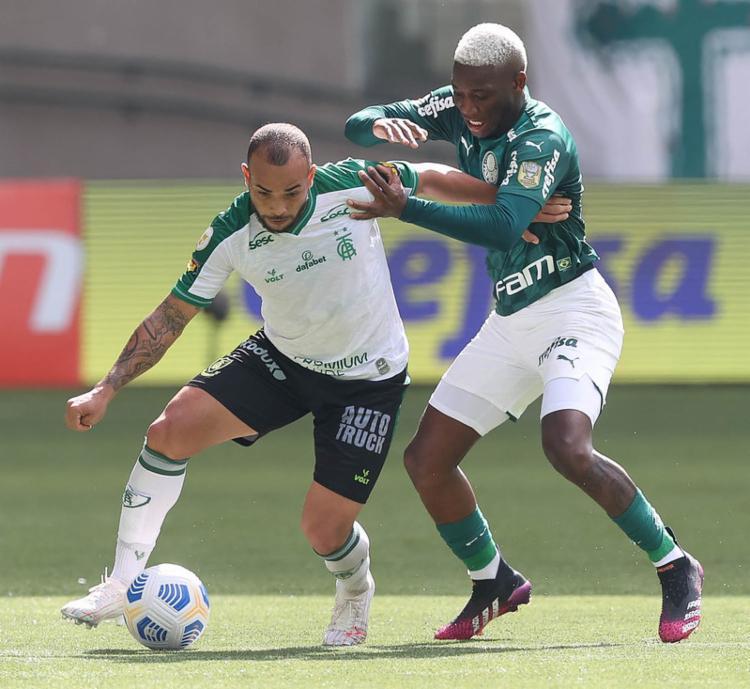 Meia esteve em campo neste domingo contra o América Mineiro | Foto: Cesar Greco | SE Palmeiras - Foto: Cesar Greco | SE Palmeiras