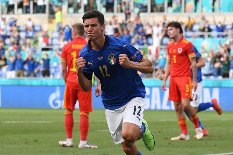 Pessina celebra gol marcado pela Itália diante do País de Gales | Foto: Alberto Lingria | AFP - Foto: Alberto Lingria | AFP