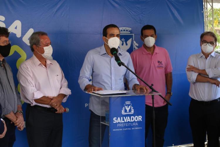 De acordo com o ofício enviado pelo gestor, Salvador precisou aportar R$ 402 milhões com recursos próprios municipais desde o início da pandemia - Foto: Foto: Bruno Concha/Secom