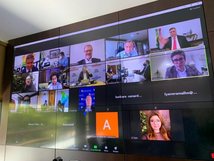 Informação foi divulgada após reunião entre governadores do Nordeste e Fundo Soberano Russo   Foto: Reprodução   Twitter